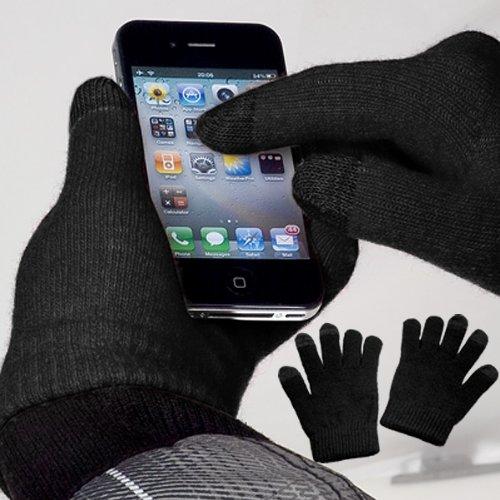 yayago Touchscreen Handschuhe Schwarz Universalgröße (ca. S – M) – für HTC U11 / U11 Dual / U11 Life / U11 Plus