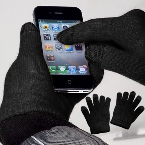 yayago Touchscreen guanti nero misura universale (Circa M L -) - per lg Optimus L7 II/L7 II Dual