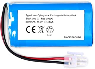LiBatter Replacement Battery for ILIFE A4 A4S A6 V7 Robot Vacuum Cleaner(14.8V 2800mAH)