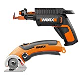 WORX WO7036 Combo Kit - WX255L SD Power Screw Driver with Screw Holder + WX081L ZipSnip Cutting Tool