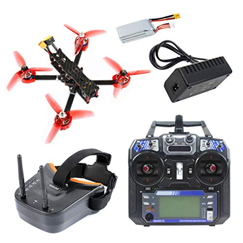 QWinOut F4 X1 175mm FPV Racing Drone 2-4S RTF with LST-009 FPV Goggles GHF411AIO Flight Controller Supra-VTX FS I6 Transmitter (with Goggles)