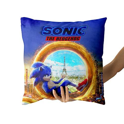 Sonic The Hedgehog Funda de Almohada Decorativa para el hogar Cama Sofá Decoración para el hogar Regalo