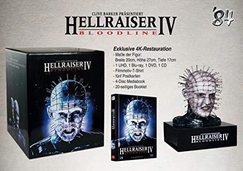 BR BOX Hellraiser IV - Bloodline (4K UHD) - 4-Disc Figur-Box (inkl. Mediabook, T-Shirt, Postkarten) - limitiert auf 300 Stück