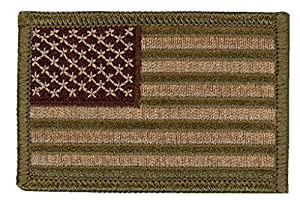 Titan One Europe - USA United States American Flag Tactical Patch (Camo Green)