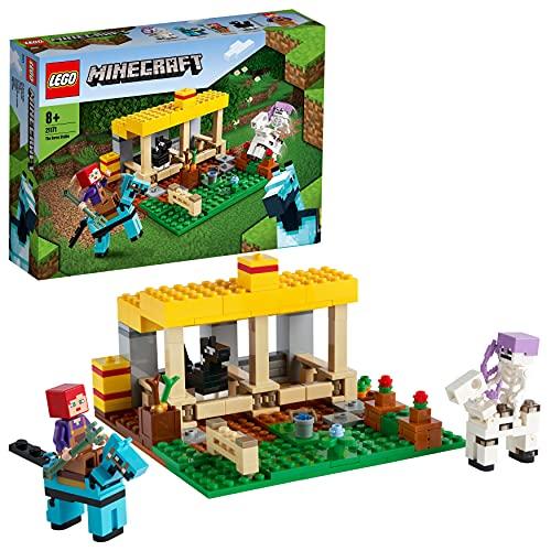 LEGO 21171 Minecraft El Establo de los Caballos, Juguete para Niños de 8 Años y Más con Caballos, Granja y Mini Figuras