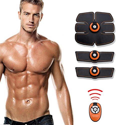 HSDMF Addominali Addominali Tonificanti, Cinture Toner Muscolare EMS Stimolatore Muscolare Allenamento Palestra E Attrezzo Da Palestra Per Donne Uomini (Con Linea USB)