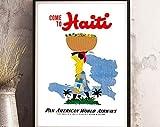 AZSTEEL Haiti – Vintage-Reise-Poster-Druck –