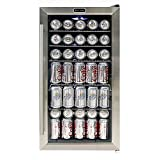 Whynter 冷蔵ショーケース 120缶 Beverage Refrigerator - Stainless Steel ステンレススチール [並行輸入]