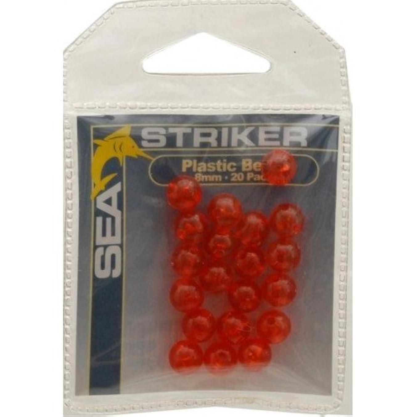 Sea Striker Plastic Beads 6MM - Red