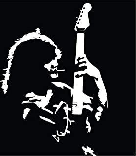 PotteLove Eddie Van Halen #1 Vinyl Decal Guitar 70' 80'S 90'S Hard Rock Bumper Sticker