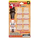 Ruby Sliders As Seen on TV by BulbHead - Premium Chair Covers Protect Floors from Scratching - Stretchable - Fits Most Furniture Leg Sizes & Shapes - Chairs Slide Without Noise, 8 Pack