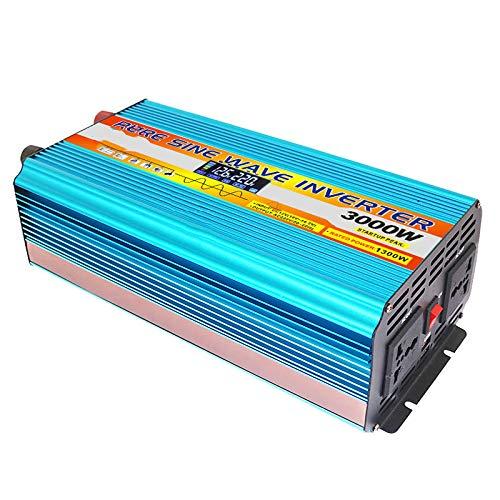 ZHANGJA Inverter 12v 220v 12v/24v Pure Sine Wave Solar Power Inverter 2000w/3000w/4000w/6000w Dc 12v To Ac 220v Car Inverter Lcd Display