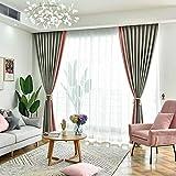 Decoración del hogar Cortinas que dan sombra a la sala de estar, dormitorio, combinación de colores, tela de cortina moderna y sencilla, gancho acabado A 350veces;270 cm (Wveces; H)veces;