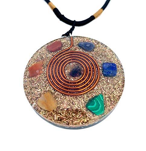 Reversible Orgonite Mixed Chakra Orgone Gemstone Pendant –...