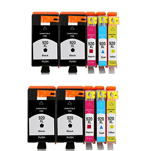 Teland - Cartuchos de tinta de repuesto para HP 920XL 920xl HP 920 XL compatible con HP Officejet 6000 6500 7000 7500 E709 E910 (10 unidades)