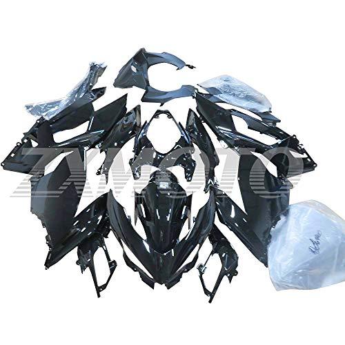 ZXMOTO Glossy Black Fairing Kit Fit for 2018 2019 2020 Kawasaki Ninja 400 EX400 ABS Plastic Injection Bodywork