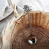 FXJ 1 Pedazo de Estilo Retro Lindo árbol de Coco té café Cucharada Helado Lindo decoración Fiesta Regalo (Color : D, tamaño : Medium)