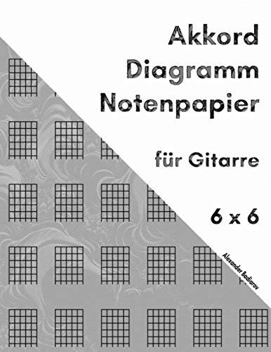 Akkord Diagramm Notenpapier für Gitarre: 6 x 6