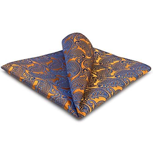 shlax&wing da uomo Fazzoletto Arancione Paisley 32cm