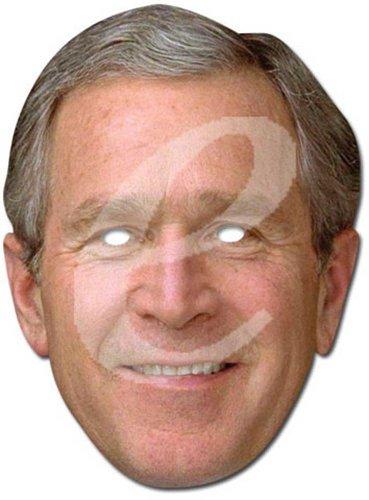 Empire Masque en carton de George W. Bush avec trous pour les yeux et élastique 30 x 21 cm