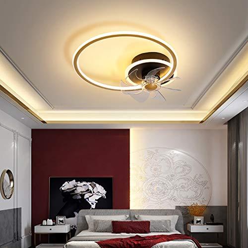 Φ45cm Dormitorio Ventilador Techo con LED Luz Y Mando, 3 Velocidades con Temporizador Regulable Lamparas Ventilador De Techo 43W Moderno Sala Silencioso Lamparas Ventilador De Techo,Oro