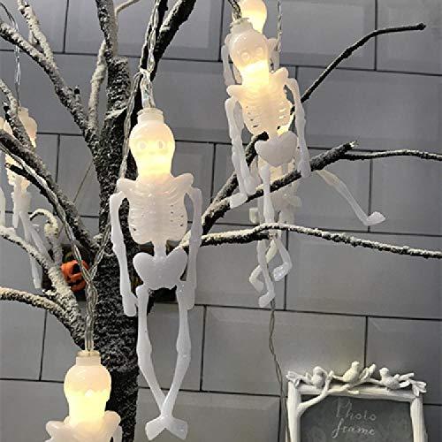 Cadena de linterna Caja de batería de linterna LED Lámpara decorativa Cadena de linterna de calabaza LED Linterna de murciélago con cabeza de calavera fantasma