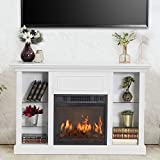 GOOD & GRACIOUS Electric Fireplace TV Stand, Fit...