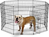 MDC IMPORTS (UK) LTD BUNNY BUSINESS 8 Panel Playpen Suitable for Rabbits/Guineas/Dogs and Cats, Small (L, SILVER)