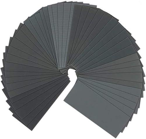 Sandpaper, Bst4UDirect 120-5000, 9x3,6 Pouces, 75 Feuilles Assortiment de Papier de Verre sec et Humide pour le Ponça...
