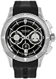 Hamilton Jazzmaster Seaview Stainless Steel Automatic Chronograph Date Black Rubber Strap Mens Watch H37616331