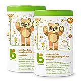 Babyganics Alcohol-Free Hand Sanitizer Wipes, Mandarin, 100 ct, 2 Pack, Packaging May Vary
