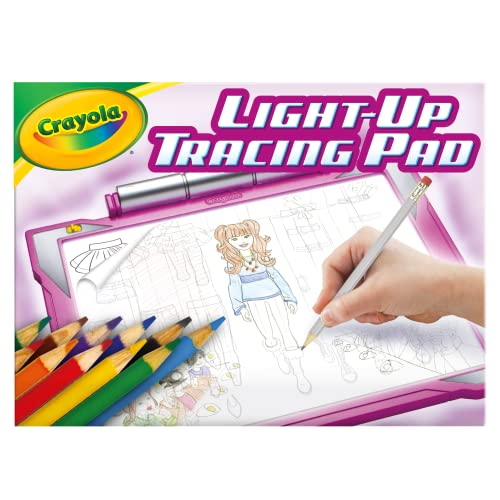 Product Image of the Crayola Light Up Tracing Pad Pink, Gifts for Girls & Boys, Age 6, 7, 8, 9