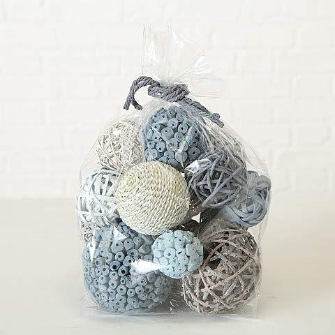 Home Collection Popurrí Bolsa con Bolas Maritimas Blancas Grises Bolas Decorativas