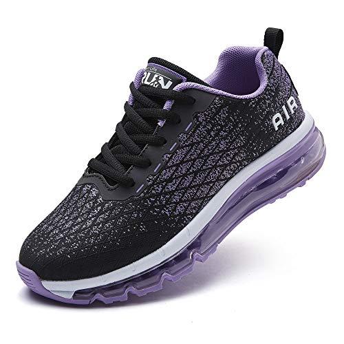 Azooken Laufschuhe Herren Damen Sportschuhe Air Cushion Turnschuhe Freizeit Fitness Outdoor Sneaker Atmungsaktiv Leichte (8998-PL42)