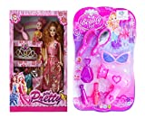 Caddle&toes New Doll House for Girls / Doll Set with Free Cute Mini Princess Makeup Accessories Set/Birthday Gift for Kids (Maira Doll + Makeup Set, Pink)