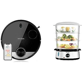 Cecotec Robot Aspirador Conga Serie 3290 Titanium + Vapovita 3000 Vaporera eléctrica INOX con 800 W: Amazon.es: Hogar