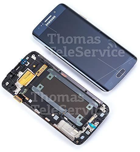 Display für Samsung Galaxy S6 Edge in schwarz sapphire SM-G925F (GH97-17162A) Touchscreen, LCD + Rahmen