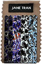 Jane Tran Assorted Modern Abstract Floral Print Bobby Pin Set