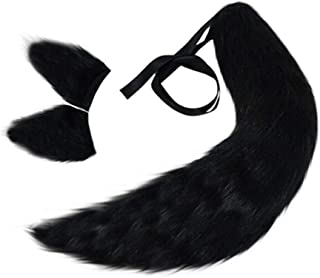 Animal Fox/Cat/Wolf/Dog Pure Color Plush Fur Tail Clip Ears Halloween Cosplay Props Anime Spice and Wolf Holo Kamisama Kiss