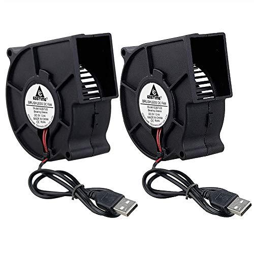GDSTIME 75 mm Gebläse 5 V USB 75 x 30 mm 7530 bürstenloser Gleichstromkühlung Zentrifugalventilator (2 Stück)