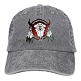 Hoswee Unisex Kappe/Baseballkappe, Native American Buffalo Skull Arrowhead Indian Cowboy Caps Dad...