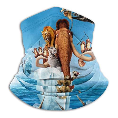 Custom made Ice Age 4 Continental Drift Bufanda redonda negra – perfecta para su uso como tapón de viento, calentador de cuello, pañuelo para la cabeza, bufanda tubular y sombrero