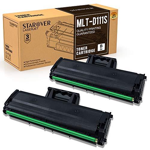 STAROVER MLT-D111S Kompatibel Toner Ersatz für Samsung MLT-D111S D111S für Samsung Xpress M2070 M2070W M2070FW M2026 M2026W M2020 M2020W M2022 M2022W M2070F (Schwarz, 2er-Pack)