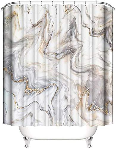 HODORPOWER Duschvorhang, schimmelresistent, wasserdicht, Marmor-Muster, waschbar, Beige, 180 x 200 cm