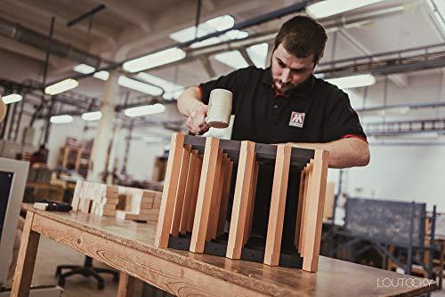 RAXI Classic Premium Weinregal aus Holz mit luxuriösem Design, Flaschenregal für 120 Wein Flaschen...