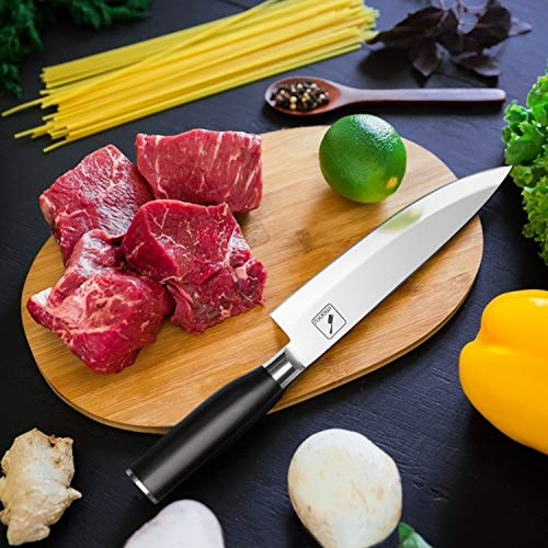 Chef Knife,Imarku Pro Chefs Knife, 8 Inch High Carbon Stainless Steel Kitchen Knife with Sharp Single Bevel Blade Edge and Ergonomic Handle