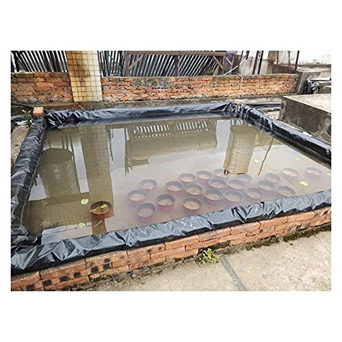 ZWYSL Fischteichfolie Wasserdicht Planenabdeckung Undurchlässige Folie Zum Aquakultur,Wassergärten,Wasserfälle Im Hinterhof Brunnen (Color : Schwarz, Size :...