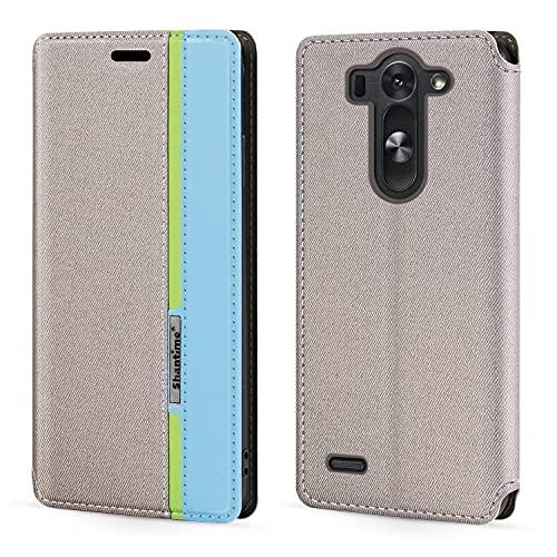 Funda para LG G3S con cierre magnético de piel con tapa para LG G3 Beat (5 pulgadas)