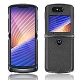 GOGME Hülle für Motorola Razr 5G/4G Handyhülle, Schlanke Leichte Weiche Silikon Stoßfeste Schutzhülle, Schwarz