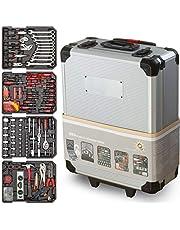 Gereedschapskist Optimus 1050-delen - Universele gereedschapsset - Aluminium Profi Werkzeugtrolley - Gereedschapskist gevuld - Gereedschapsopslag voor doe-het-zelvers